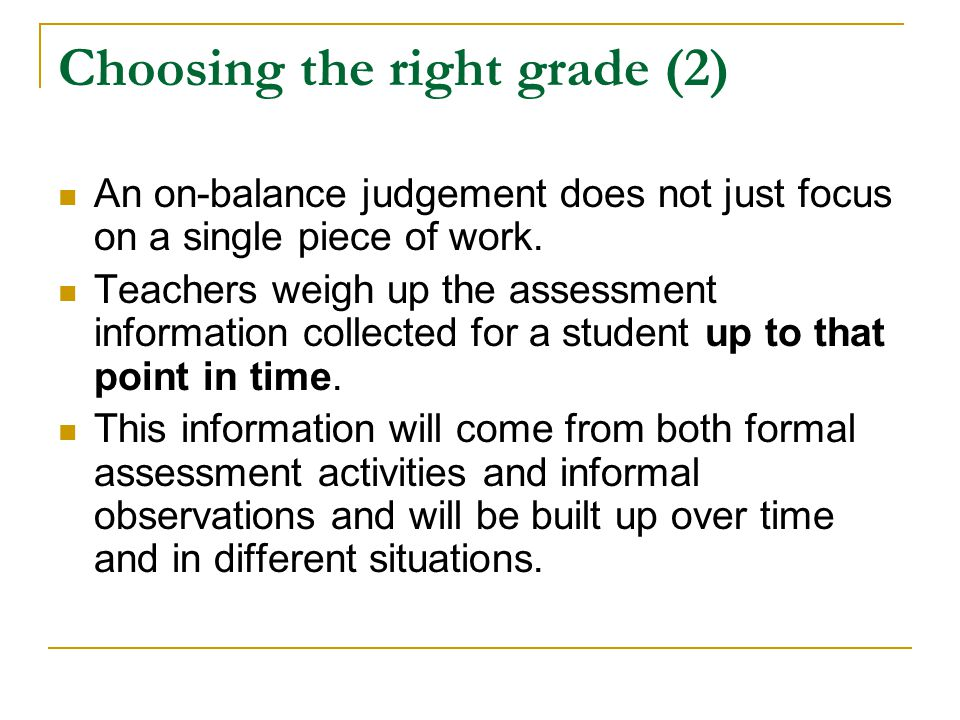 Choosing the right grade (2)