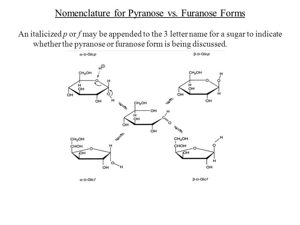 Nomenclature for Pyranose vs. Furanose Forms