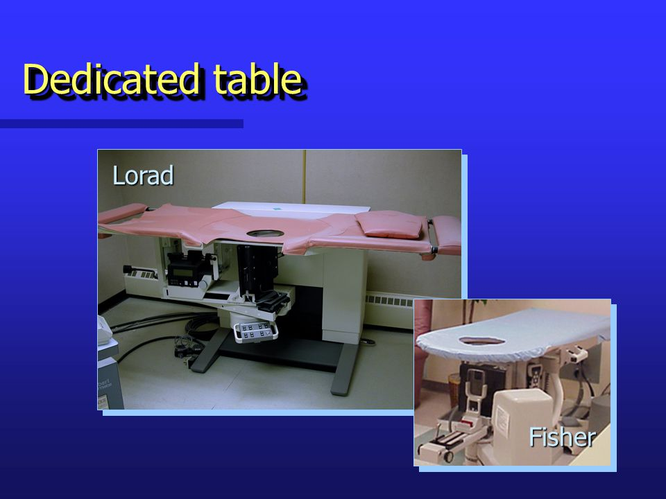 Dedicated table Lorad Fisher
