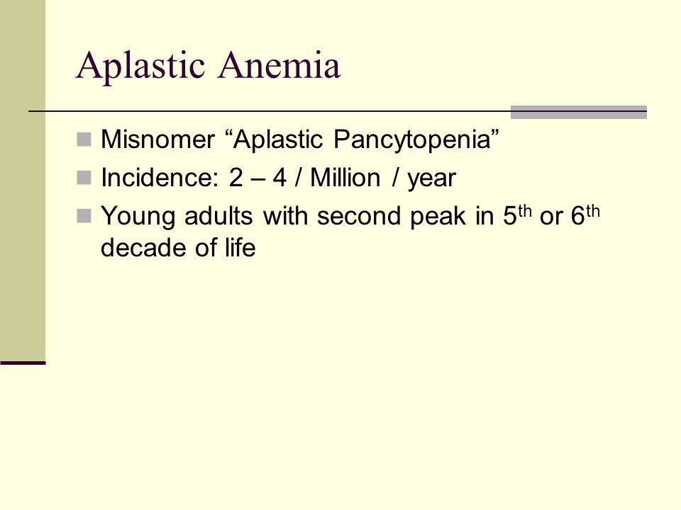Aplastic Anemia Misnomer Aplastic Pancytopenia
