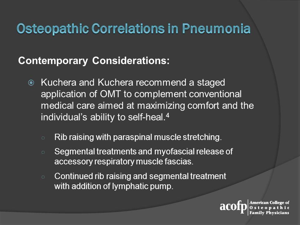 Osteopathic Correlations in Pneumonia