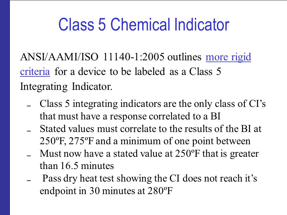 Class 5 Chemical Indicator
