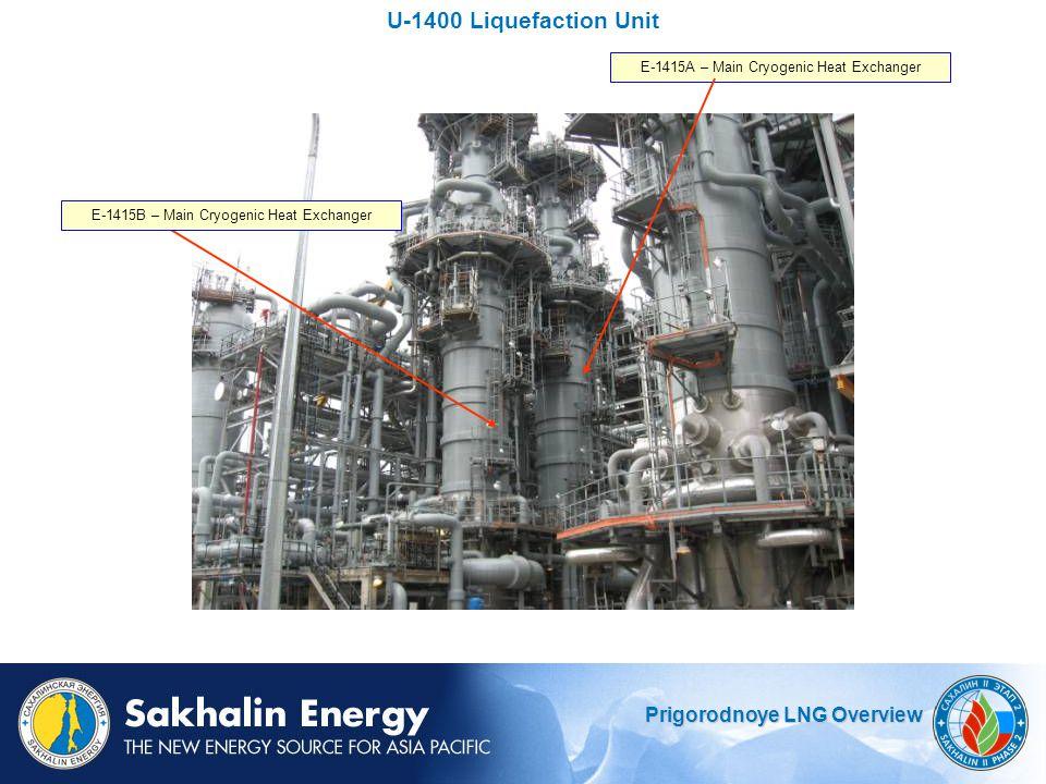 U-1400 Liquefaction Unit E-1415A – Main Cryogenic Heat Exchanger