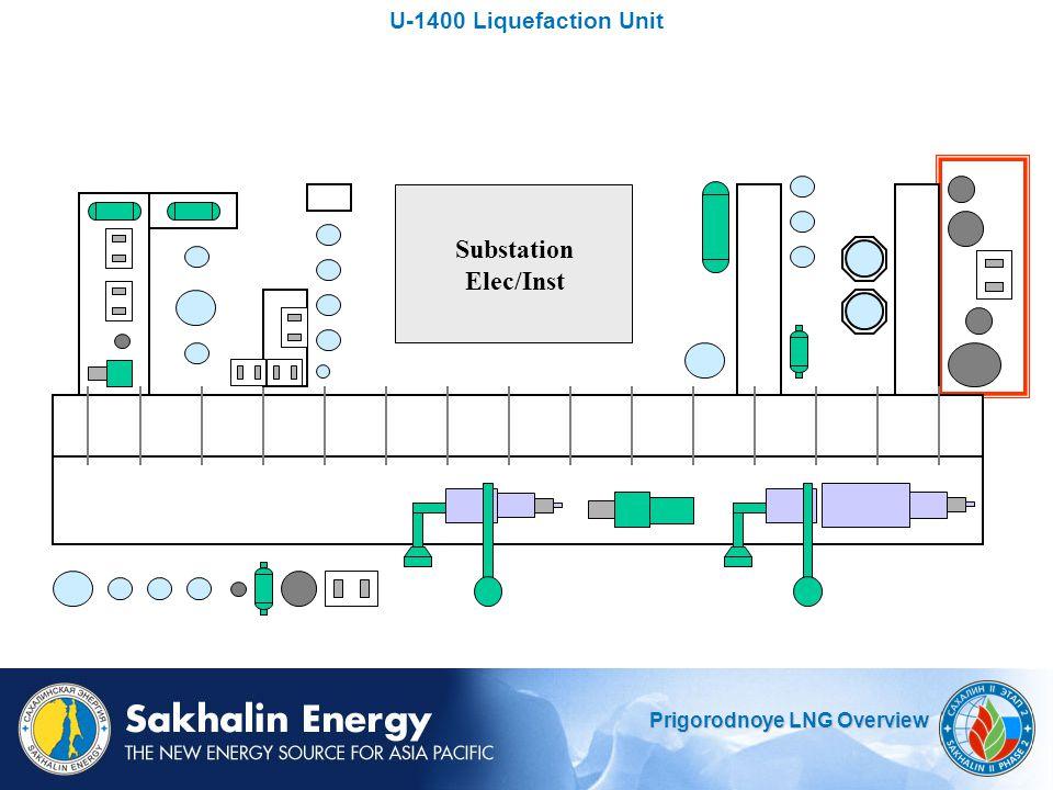 U-1400 Liquefaction Unit Substation Elec/Inst