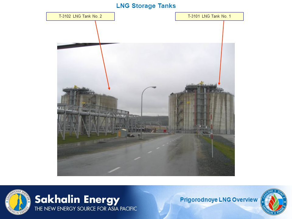 LNG Storage Tanks T-3102 LNG Tank No. 2 T-3101 LNG Tank No. 1