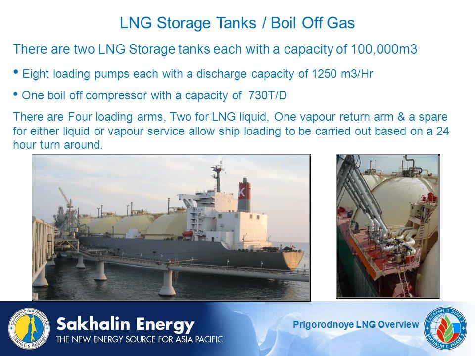 LNG Storage Tanks / Boil Off Gas