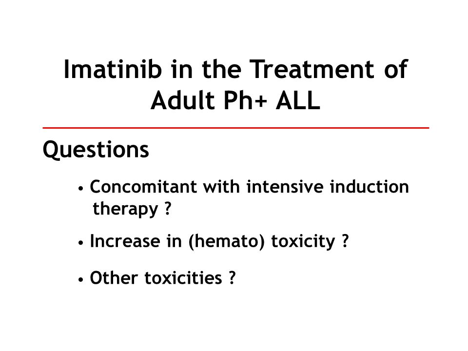 Imatinib in the Treatment of