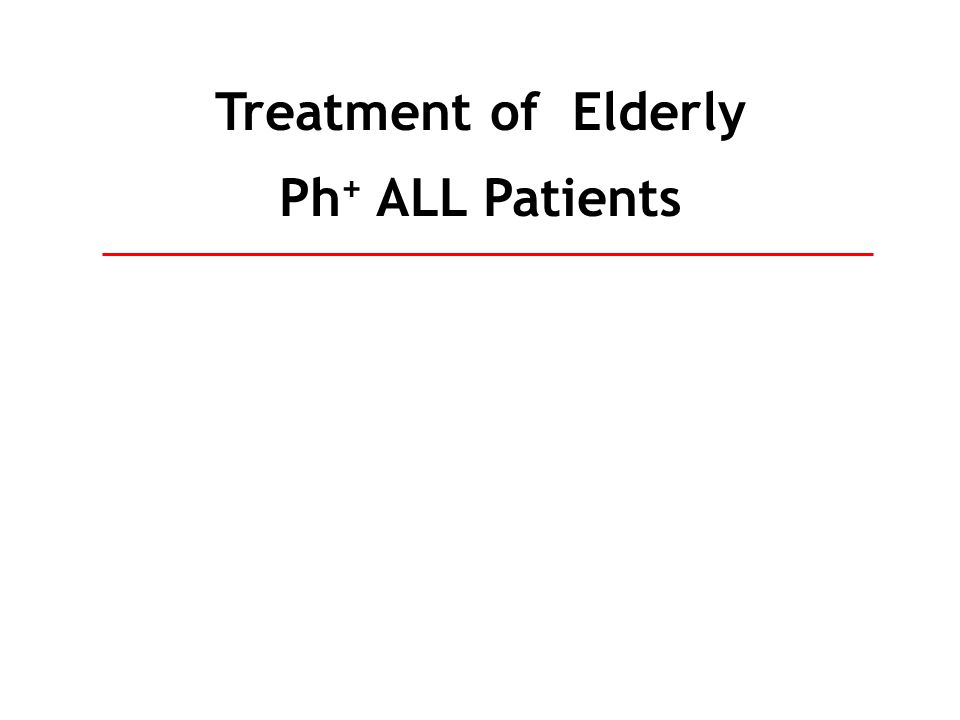 Treatment of Elderly Ph+ ALL Patients