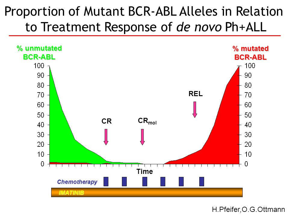 Proportion of Mutant BCR-ABL Alleles in Relation