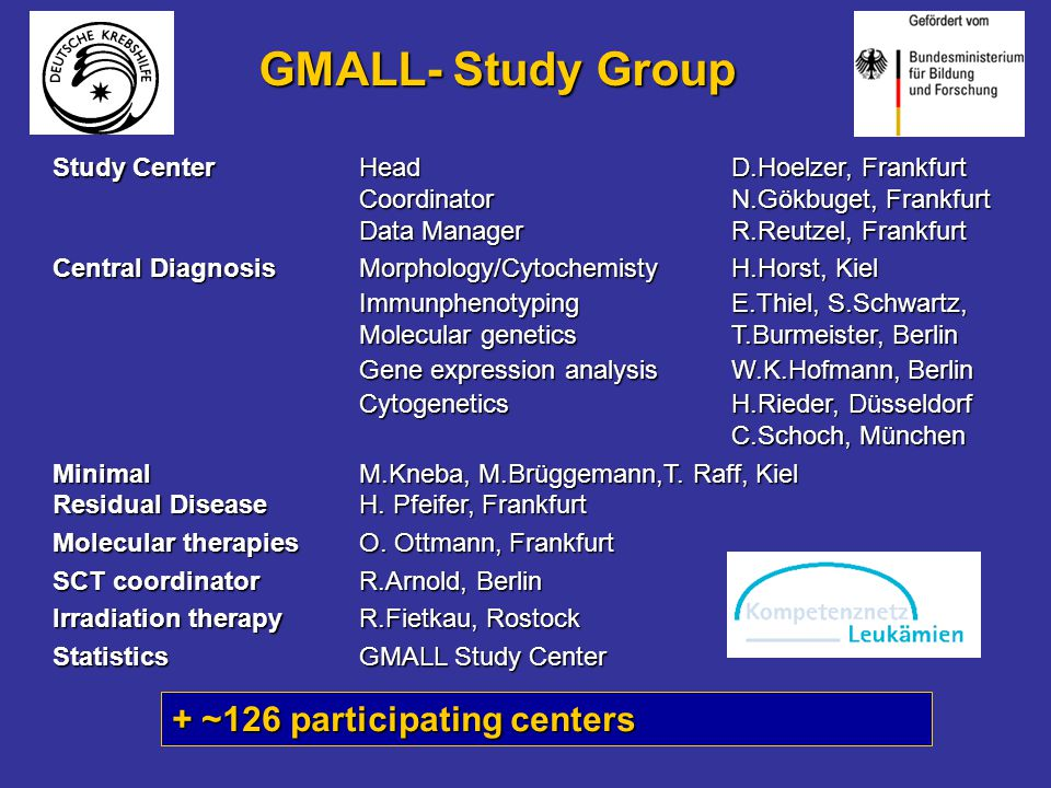 GMALL- Study Group + ~126 participating centers