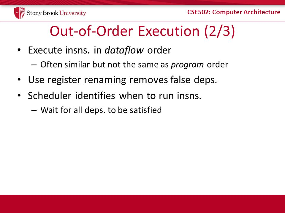 Out-of-Order Execution (2/3)