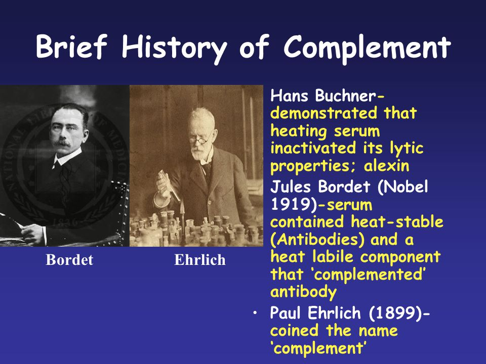Brief History of Complement