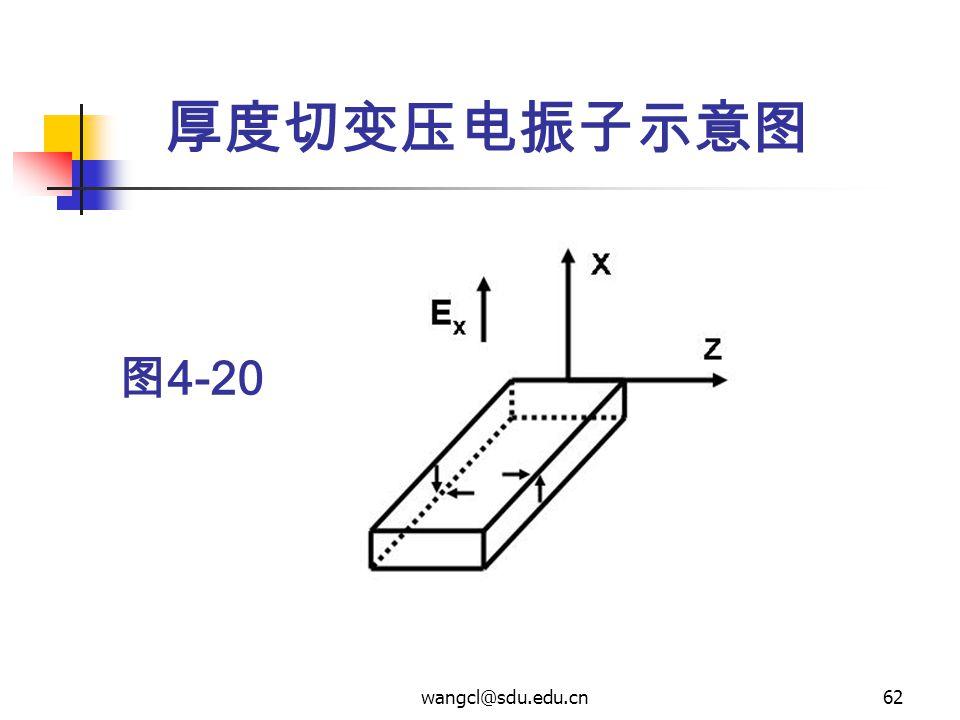 厚度切变压电振子示意图 图4-20 wangcl@sdu.edu.cn