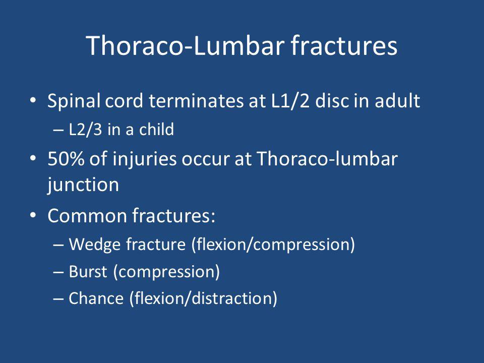 Thoraco-Lumbar fractures