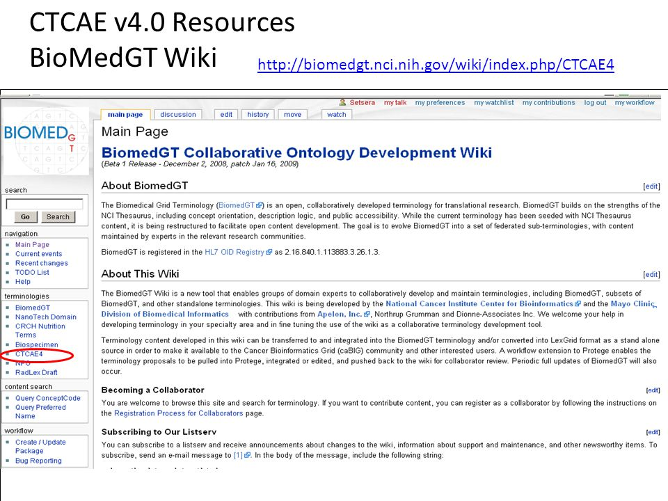 CTCAE v4.0 Resources BioMedGT Wiki