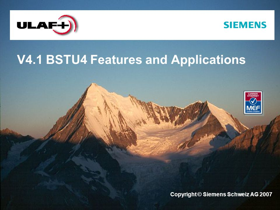 V4.1 BSTU4 Features and Applications