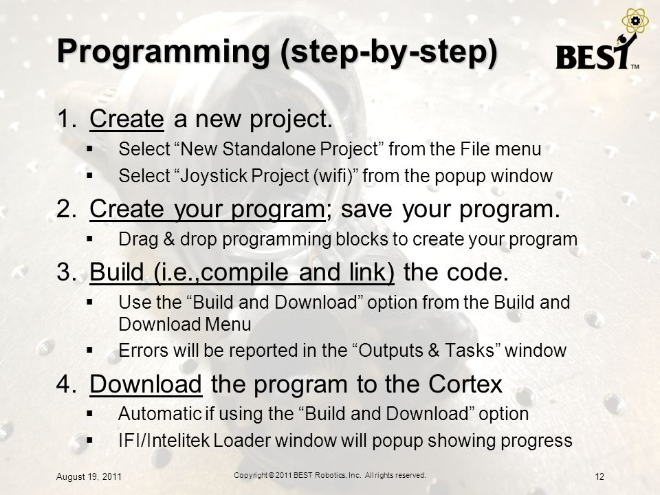 Programming (step-by-step)