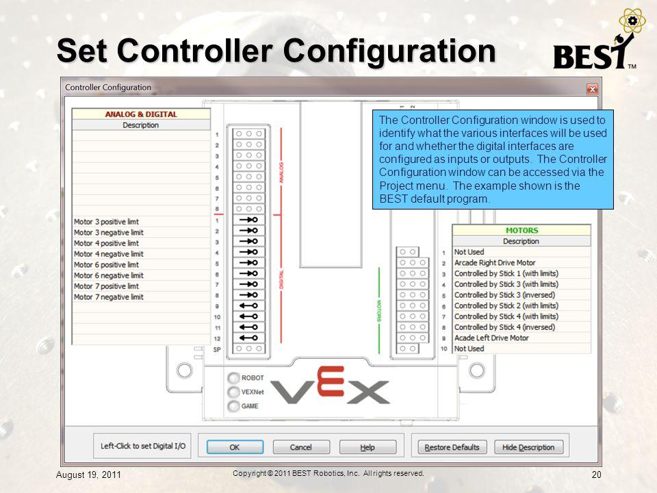 Set Controller Configuration
