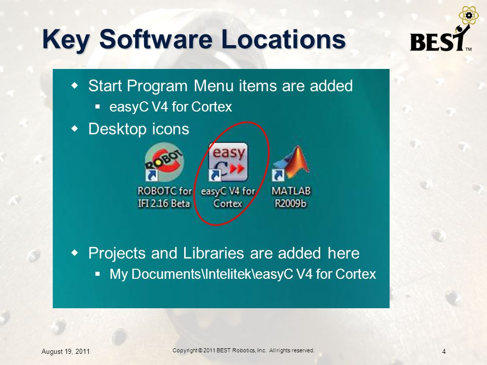 Key Software Locations