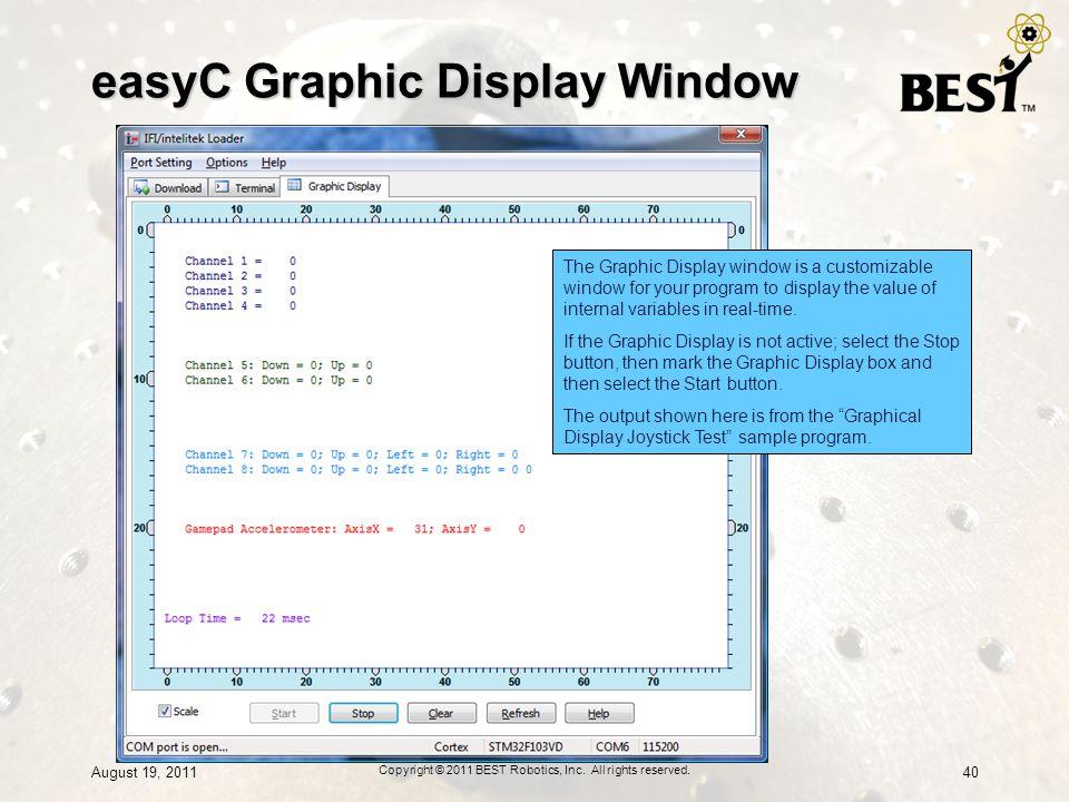 easyC Graphic Display Window