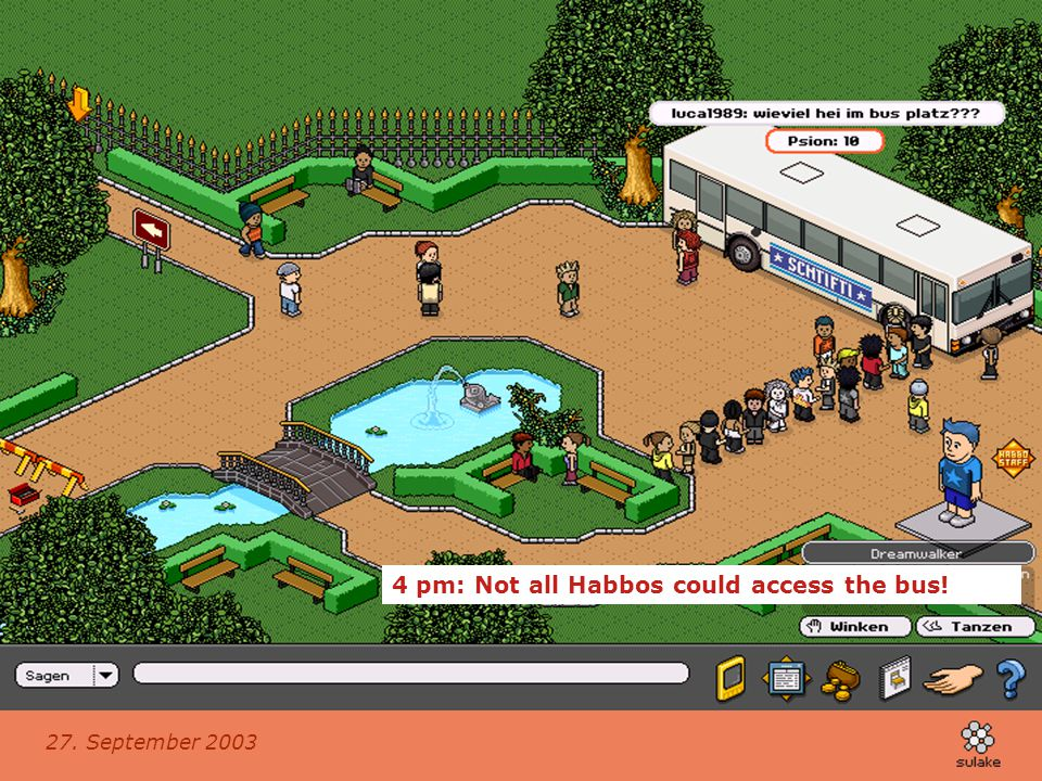 4 pm: Not all Habbos could access the bus!