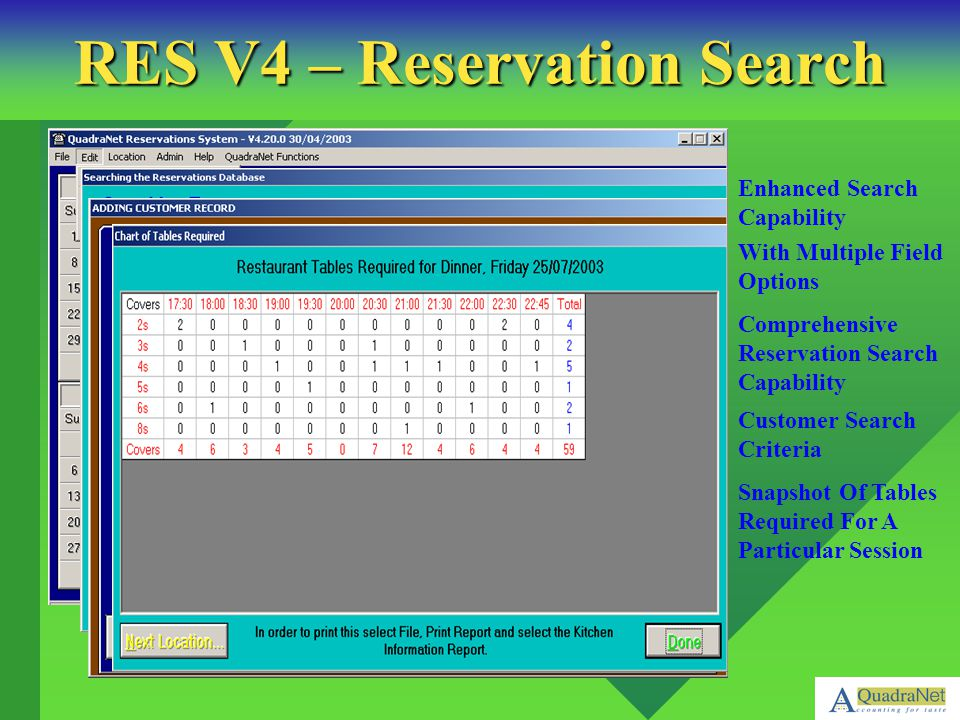 RES V4 – Reservation Search
