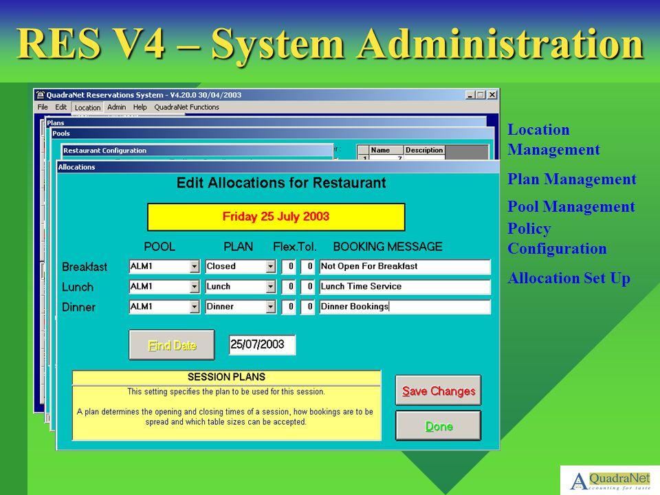 RES V4 – System Administration
