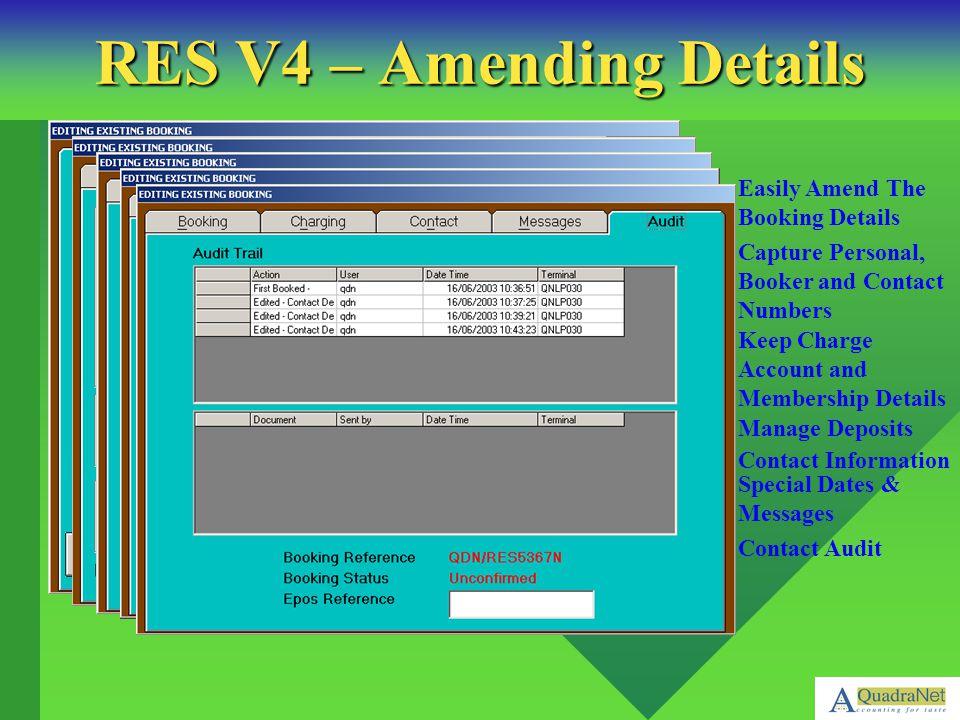 RES V4 – Amending Details