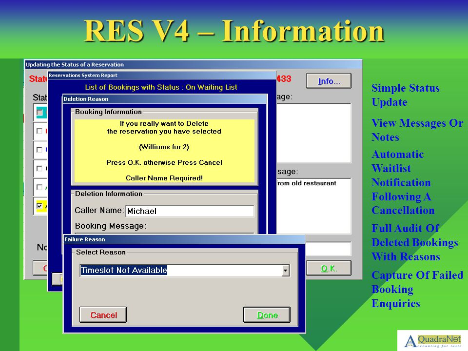 RES V4 – Information Simple Status Update View Messages Or Notes