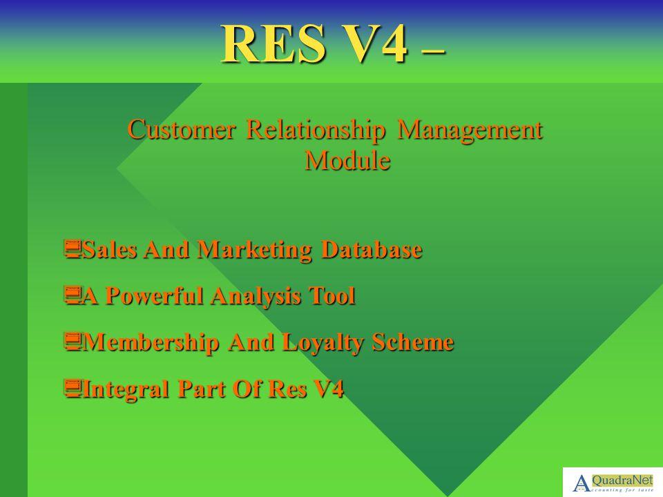 Customer Relationship Management Module