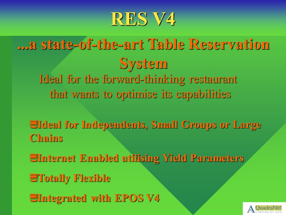 ...a state-of-the-art Table Reservation System