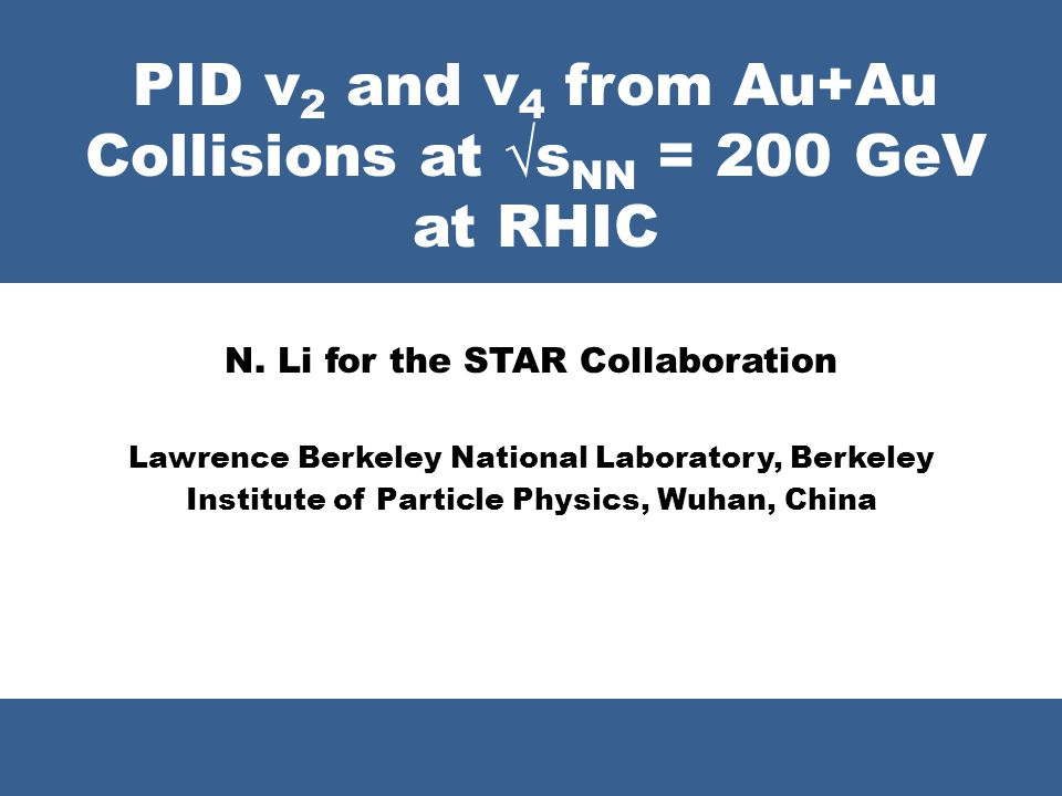 PID v2 and v4 from Au+Au Collisions at √sNN = 200 GeV at RHIC