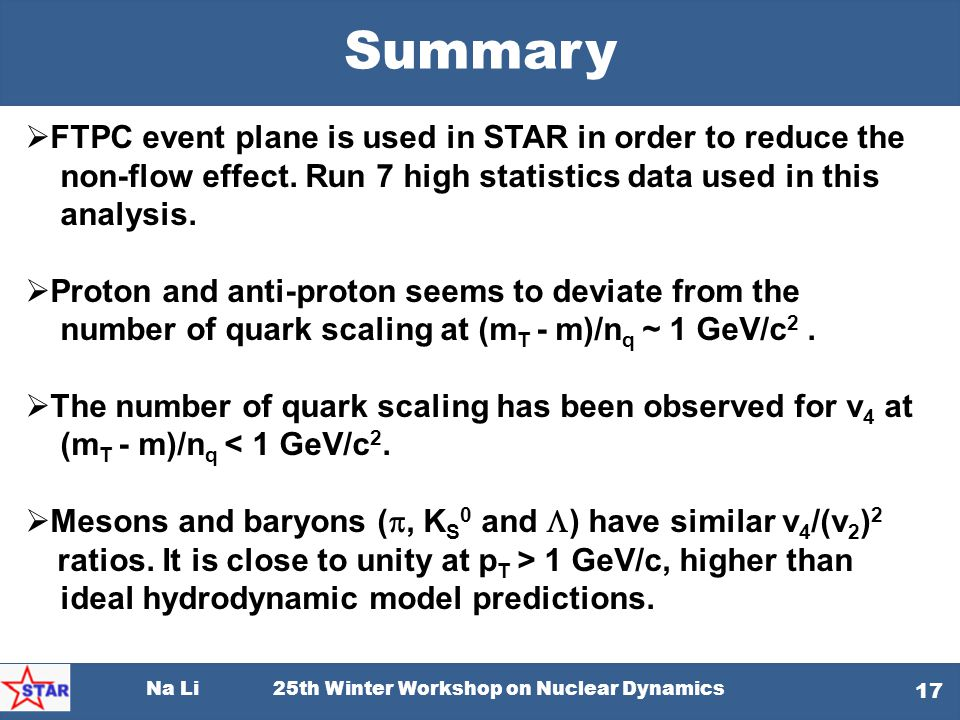 Summary FTPC event plane is used in STAR in order to reduce the