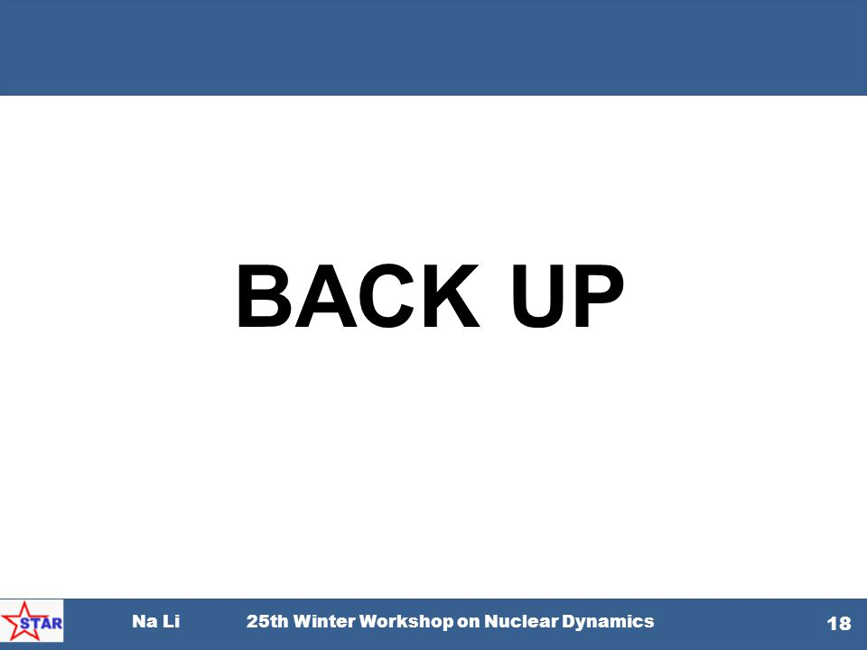 BACK UP Na Li 25th Winter Workshop on Nuclear Dynamics