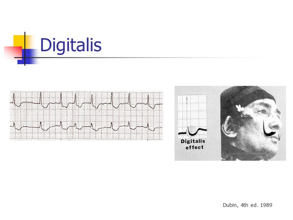 Digitalis Dubin, 4th ed. 1989