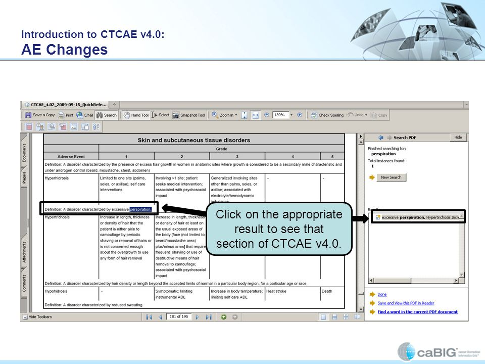 Introduction to CTCAE v4.0: AE Changes