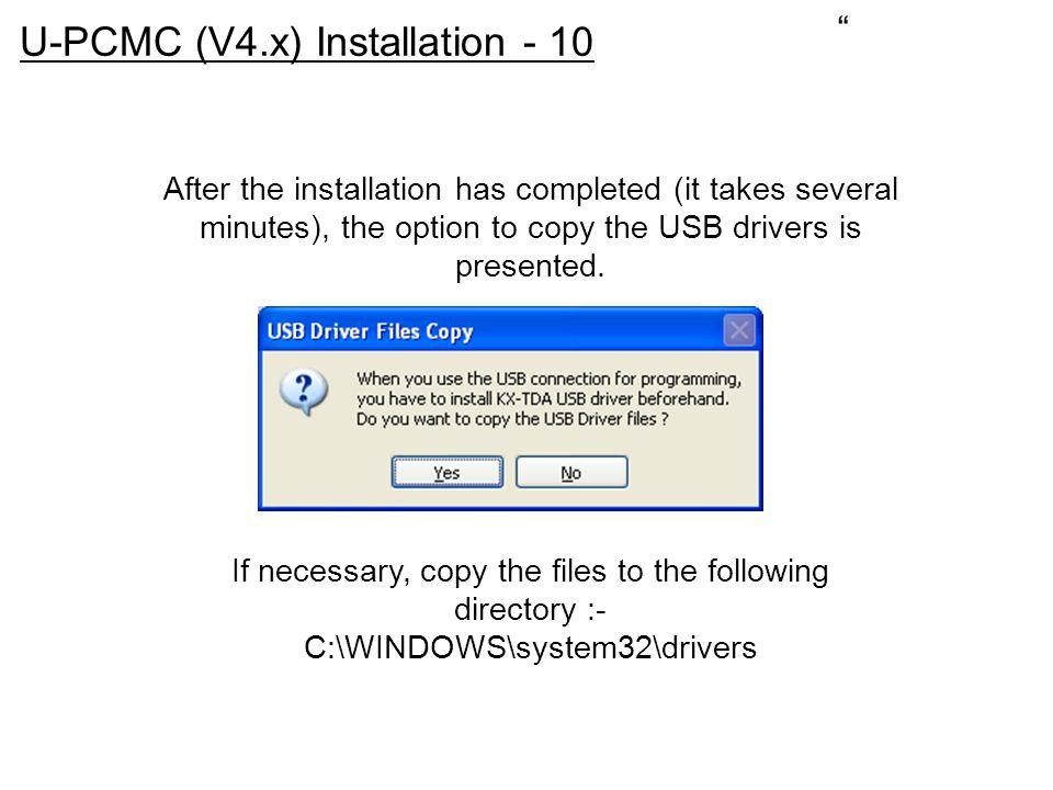 U-PCMC (V4.x) Installation - 10