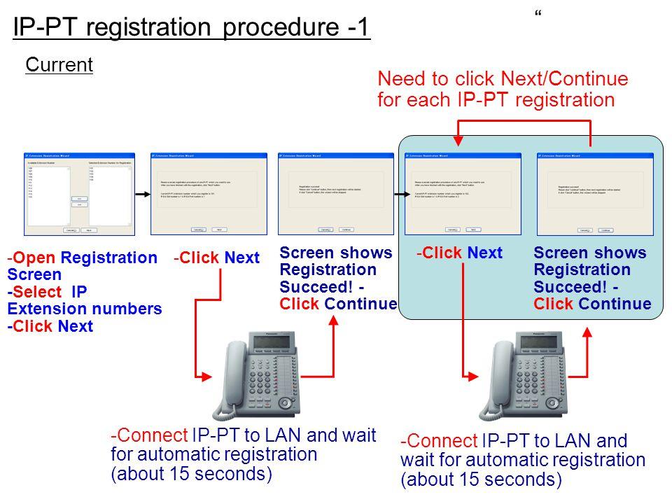 IP-PT registration procedure -1