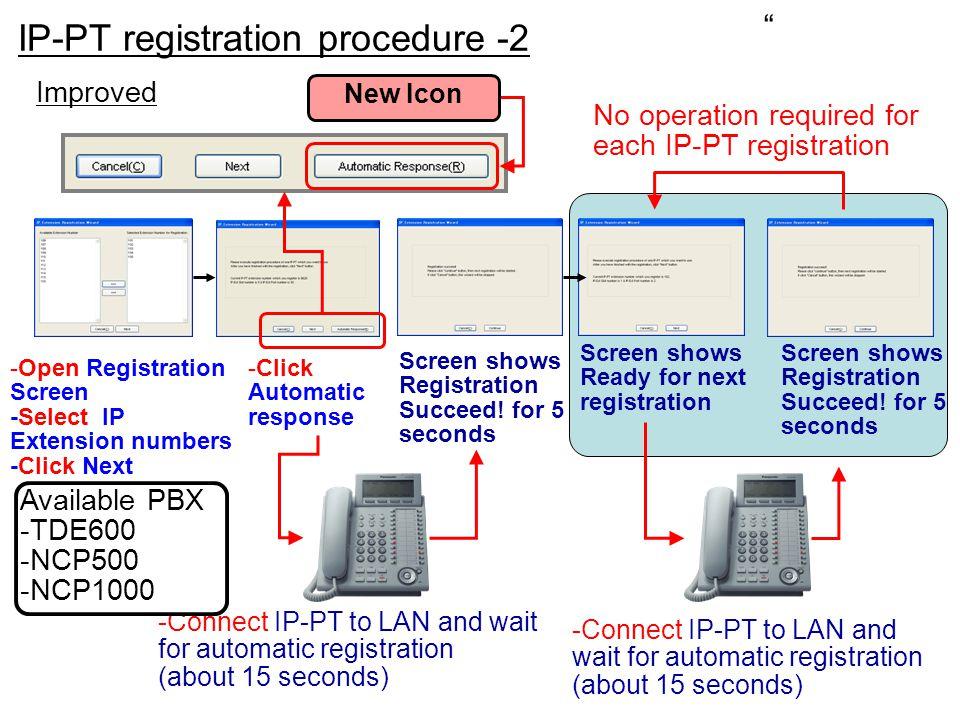 IP-PT registration procedure -2
