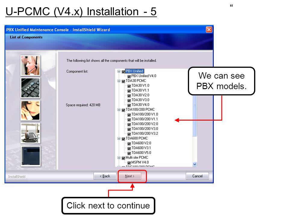 U-PCMC (V4.x) Installation - 5