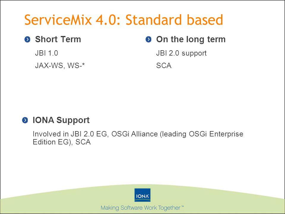 ServiceMix 4.0: Standard based