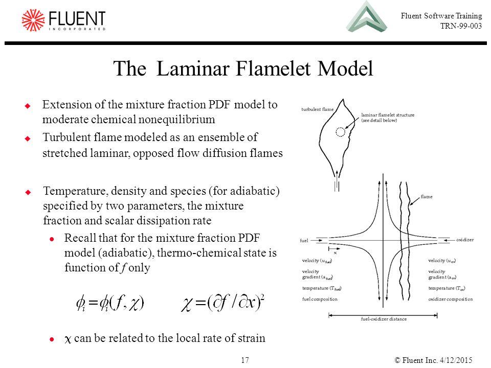 The Laminar Flamelet Model