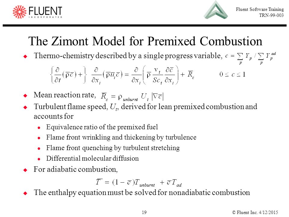 The Zimont Model for Premixed Combustion