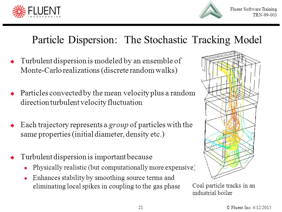 Particle Dispersion: The Stochastic Tracking Model