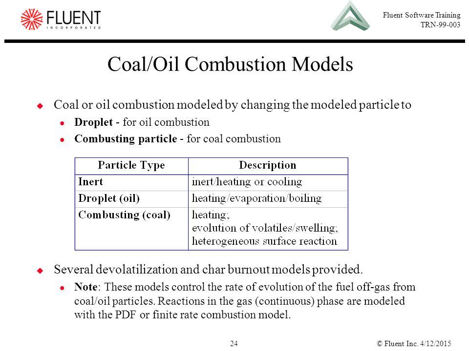 Coal/Oil Combustion Models
