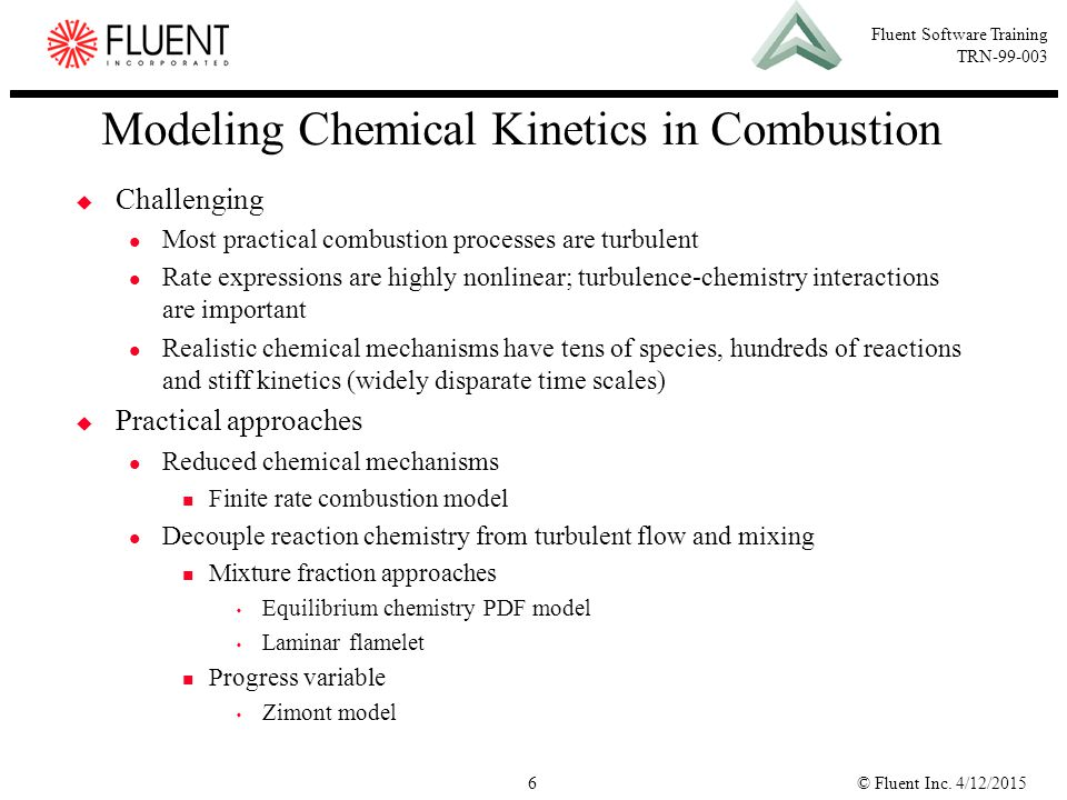 Modeling Chemical Kinetics in Combustion