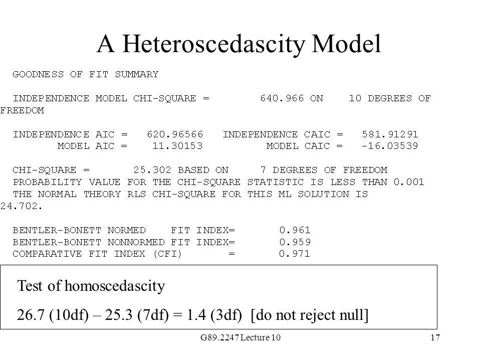 A Heteroscedascity Model