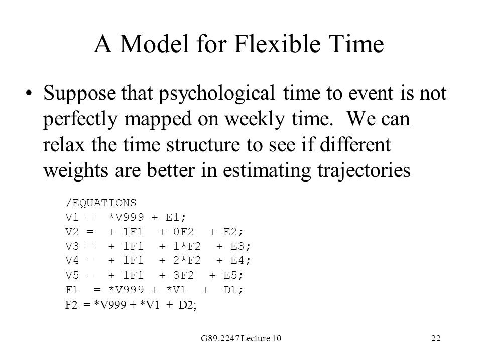 A Model for Flexible Time