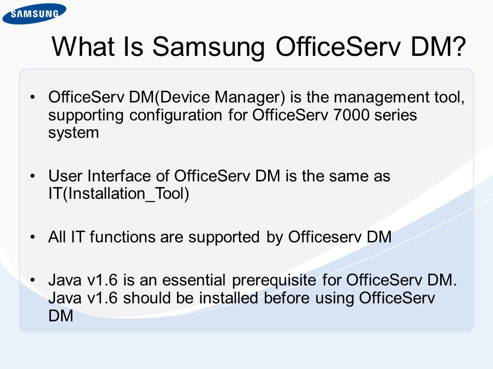 What Is Samsung OfficeServ DM