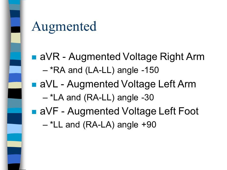 Augmented aVR - Augmented Voltage Right Arm